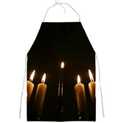 Hanukkah Chanukah Menorah Candles Candlelight Jewish Festival Of Lights Full Print Aprons by yoursparklingshop