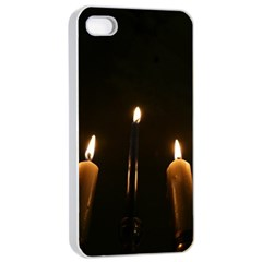 Hanukkah Chanukah Menorah Candles Candlelight Jewish Festival Of Lights Apple Iphone 4/4s Seamless Case (white) by yoursparklingshop