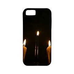 Hanukkah Chanukah Menorah Candles Candlelight Jewish Festival Of Lights Apple Iphone 5 Classic Hardshell Case (pc+silicone) by yoursparklingshop