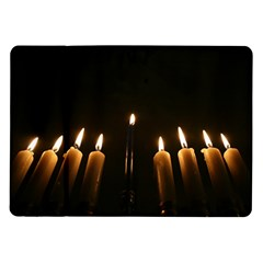 Hanukkah Chanukah Menorah Candles Candlelight Jewish Festival Of Lights Samsung Galaxy Tab 10 1  P7500 Flip Case by yoursparklingshop