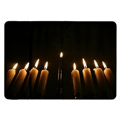 Hanukkah Chanukah Menorah Candles Candlelight Jewish Festival Of Lights Samsung Galaxy Tab 8 9  P7300 Flip Case by yoursparklingshop