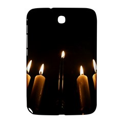 Hanukkah Chanukah Menorah Candles Candlelight Jewish Festival Of Lights Samsung Galaxy Note 8 0 N5100 Hardshell Case  by yoursparklingshop
