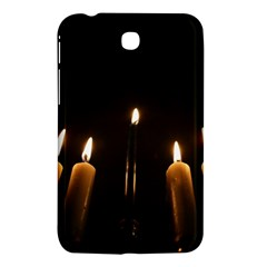 Hanukkah Chanukah Menorah Candles Candlelight Jewish Festival Of Lights Samsung Galaxy Tab 3 (7 ) P3200 Hardshell Case  by yoursparklingshop
