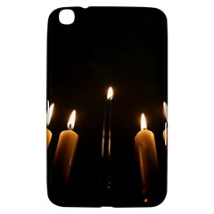 Hanukkah Chanukah Menorah Candles Candlelight Jewish Festival Of Lights Samsung Galaxy Tab 3 (8 ) T3100 Hardshell Case  by yoursparklingshop