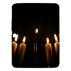 Hanukkah Chanukah Menorah Candles Candlelight Jewish Festival Of Lights Samsung Galaxy Tab 3 (10 1 ) P5200 Hardshell Case  by yoursparklingshop