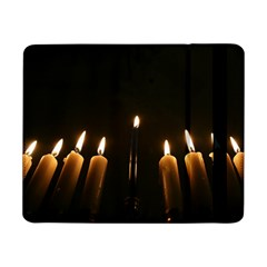 Hanukkah Chanukah Menorah Candles Candlelight Jewish Festival Of Lights Samsung Galaxy Tab Pro 8 4  Flip Case by yoursparklingshop