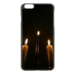 Hanukkah Chanukah Menorah Candles Candlelight Jewish Festival Of Lights Apple Iphone 6 Plus/6s Plus Black Enamel Case by yoursparklingshop