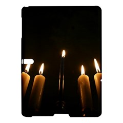 Hanukkah Chanukah Menorah Candles Candlelight Jewish Festival Of Lights Samsung Galaxy Tab S (10 5 ) Hardshell Case  by yoursparklingshop