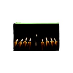 Hanukkah Chanukah Menorah Candles Candlelight Jewish Festival Of Lights Cosmetic Bag (xs) by yoursparklingshop