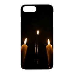 Hanukkah Chanukah Menorah Candles Candlelight Jewish Festival Of Lights Apple Iphone 7 Plus Hardshell Case by yoursparklingshop