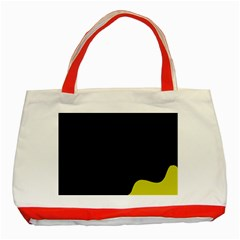 Black And Yellow Classic Tote Bag (red) by Valentinaart