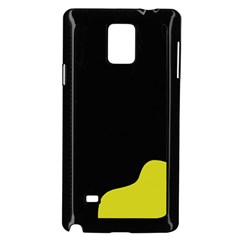 Black And Yellow Samsung Galaxy Note 4 Case (black) by Valentinaart