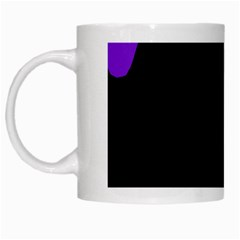 Purple And Black White Mugs by Valentinaart