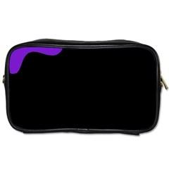 Purple And Black Toiletries Bags by Valentinaart