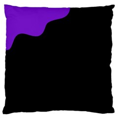 Purple and black Standard Flano Cushion Case (One Side) by Valentinaart