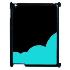 Black And Cyan Apple Ipad 2 Case (black) by Valentinaart