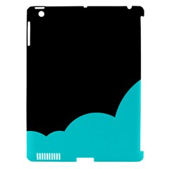 Black And Cyan Apple Ipad 3/4 Hardshell Case (compatible With Smart Cover) by Valentinaart