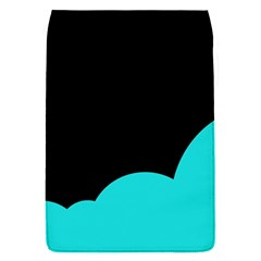 Black And Cyan Flap Covers (s)  by Valentinaart