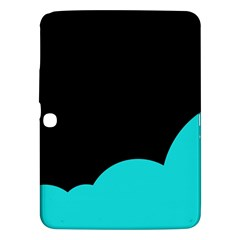 Black And Cyan Samsung Galaxy Tab 3 (10 1 ) P5200 Hardshell Case  by Valentinaart