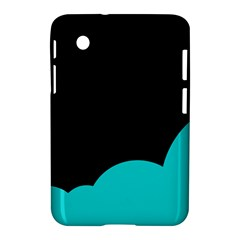 Black And Cyan Samsung Galaxy Tab 2 (7 ) P3100 Hardshell Case  by Valentinaart