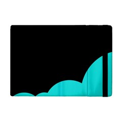Black And Cyan Ipad Mini 2 Flip Cases by Valentinaart