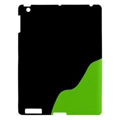 Black And Green Apple Ipad 3/4 Hardshell Case by Valentinaart