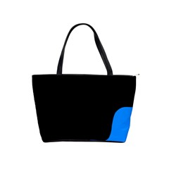 Blue And Black Shoulder Handbags by Valentinaart