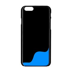 Blue And Black Apple Iphone 6/6s Black Enamel Case by Valentinaart