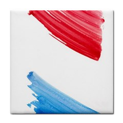 Tricolor Banner Flag, Red White Blue Tile Coasters by picsaspassion