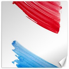 Tricolor Banner Flag, Red White Blue Canvas 20  X 20   by picsaspassion