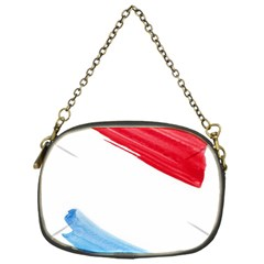Tricolor Banner Flag, Red White Blue Chain Purses (one Side)  by picsaspassion