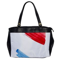 Tricolor Banner Flag, Red White Blue Office Handbags by picsaspassion
