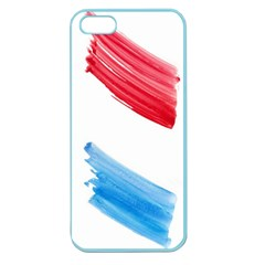 Tricolor Banner Flag, Red White Blue Apple Seamless Iphone 5 Case (color) by picsaspassion