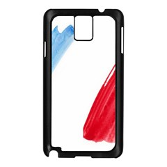 Tricolor Banner Flag France, Blue White Red Watercolor Samsung Galaxy Note 3 N9005 Case (black) by picsaspassion