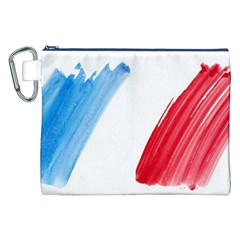 Tricolor Banner Flag France, Blue White Red Watercolor Canvas Cosmetic Bag (xxl) by picsaspassion