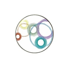 Rainbow Color Circles, Watercolor   Aquarel Painting Hat Clip Ball Marker (4 Pack) by picsaspassion