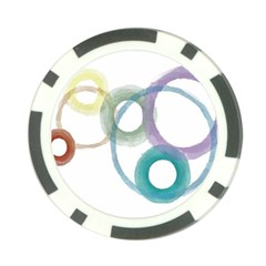 Rainbow Color Circles, Watercolor   Aquarel Painting Poker Chip Card Guards by picsaspassion