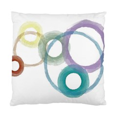 Rainbow Color Circles, Watercolor   Aquarel Painting Standard Cushion Case (two Sides) by picsaspassion