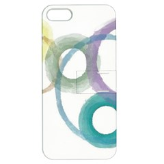 Rainbow Color Circles, Watercolor   Aquarel Painting Apple Iphone 5 Hardshell Case With Stand by picsaspassion