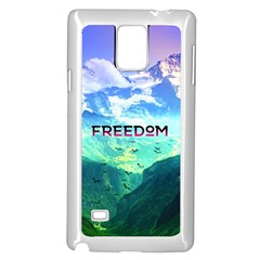 Freedom Samsung Galaxy Note 4 Case (white) by Brittlevirginclothing