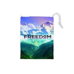 Freedom Drawstring Pouches (small)  by Brittlevirginclothing
