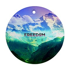 Freedom Ornament (round)  by Brittlevirginclothing
