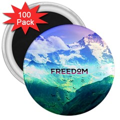 Freedom 3  Magnets (100 Pack) by Brittlevirginclothing