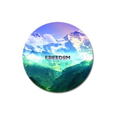 Freedom Magnet 3  (round) by Brittlevirginclothing