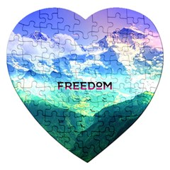 Freedom Jigsaw Puzzle (heart) by Brittlevirginclothing