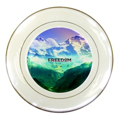Freedom Porcelain Plates by Brittlevirginclothing