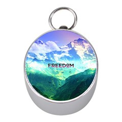Freedom Mini Silver Compasses by Brittlevirginclothing
