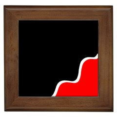 Simple Red And Black Desgin Framed Tiles by Valentinaart