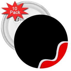 Simple Red And Black Desgin 3  Buttons (10 Pack)  by Valentinaart