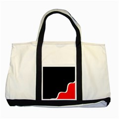 Simple Red And Black Desgin Two Tone Tote Bag by Valentinaart